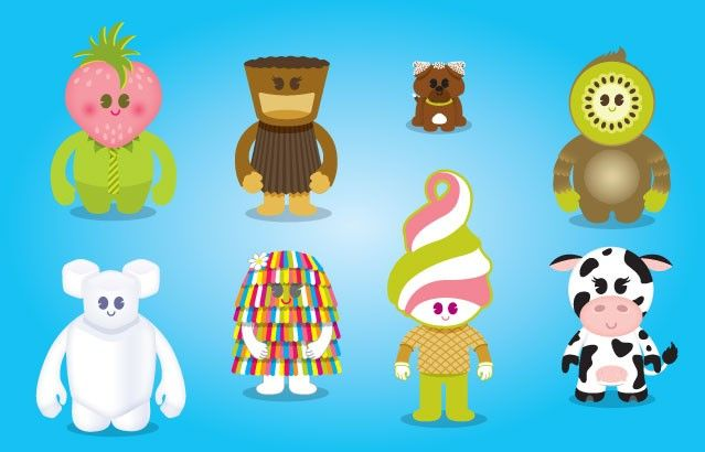 Characters for Menchie's Frozen Yogurt by Works Progress