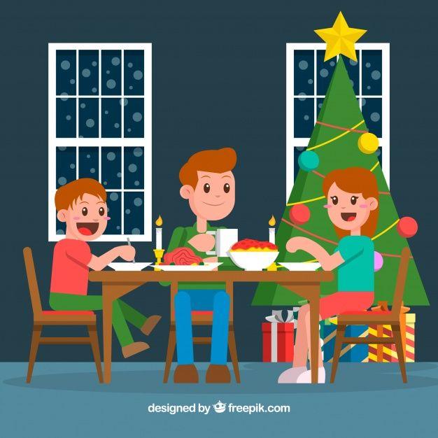 Familia Teniendo Una Cena De Navidad Cena De Navidad Cenas De Navidad Navidad