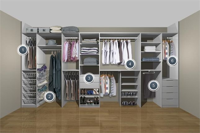 great options for storage in a fitted wardrobe
