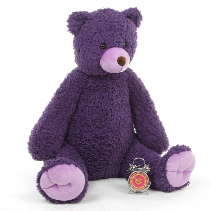 Violet Woolly Tubs Big Purple Teddy Bear 42 inches - Giant Teddy Bear $119.99 http://www.giantteddy.com