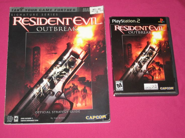 Resident Evil Outbreak PS2 Game & Strategy Guide Lot Sony PlayStation 2 COMPLETE | eBay