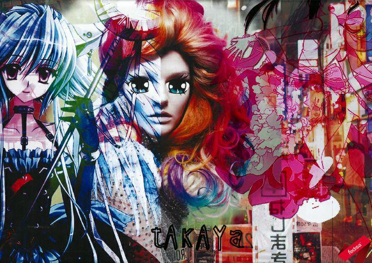 Fashion Mood board of a subculture: Otaku/Anime [2nd Year]