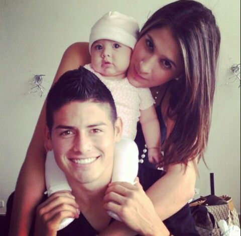 James with his family