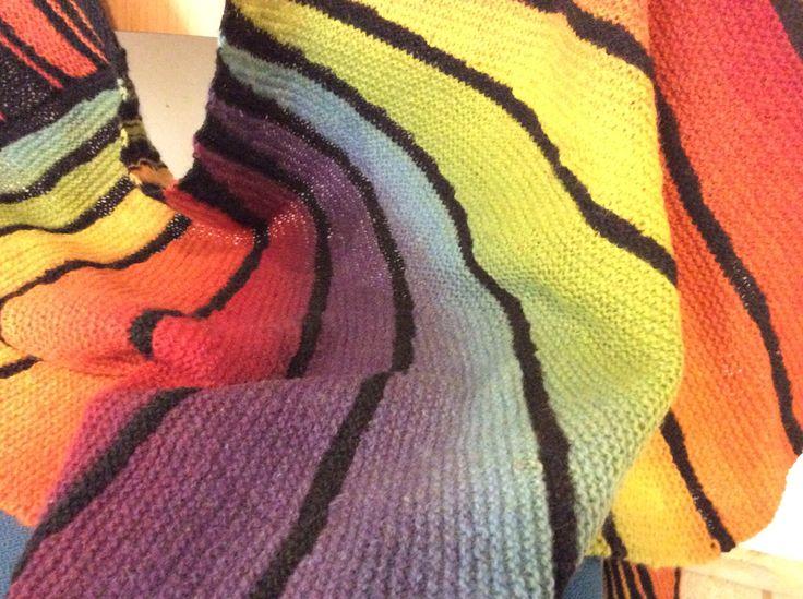 Knitting rainbow
