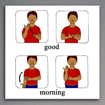 ASL Sign for Good | American Sign Language book illustration sample