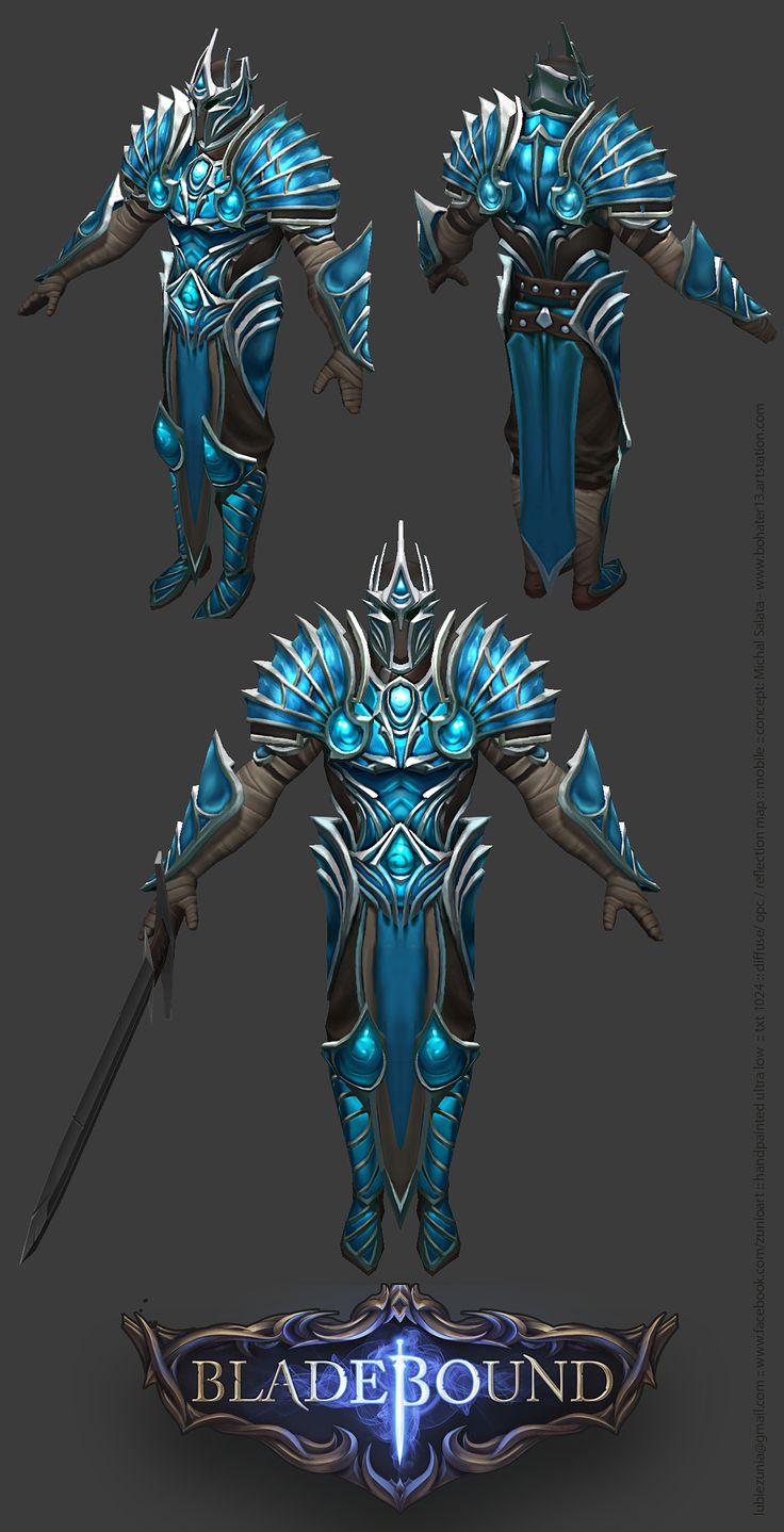 Bladebound Handpainted Light Armor www.facebook.com/zunioart