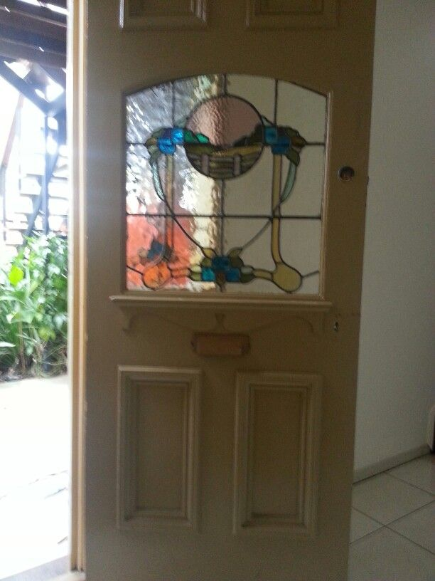 All the way from Melbourne, Australia.  100yr old door.