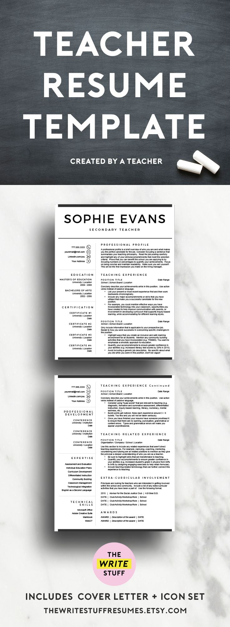 The 25 Best Teacher Resume Template Ideas On Pinterest Resume