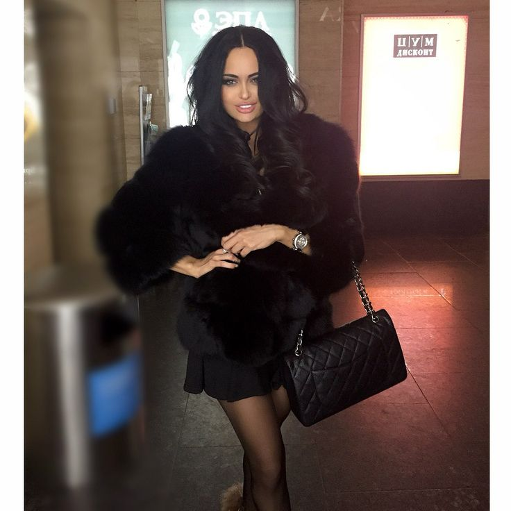 Nita Kuzmina | Style - A la Mode | Black fur coat, Fur ...