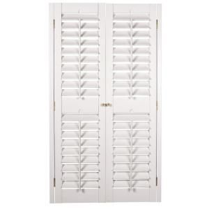 Homebasics Plantation Faux Wood White Interior Shutter Price Varies By Size Models Cas And Home