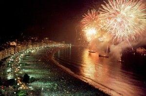 Praia de Copacabana - Véspera de Ano Novo - Rio de Janeiro