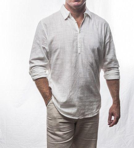 White 3 Button Cotton Shirt