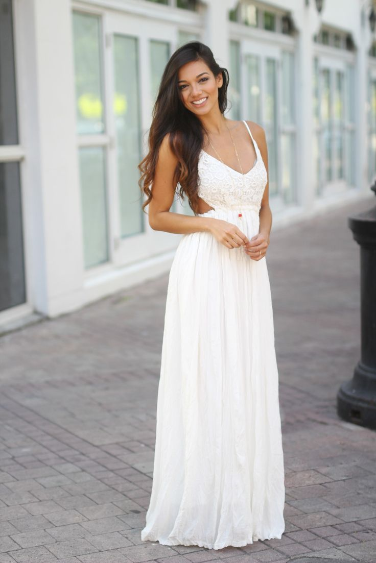Best 25+ White lace maxi dress ideas on Pinterest | Beachy ...