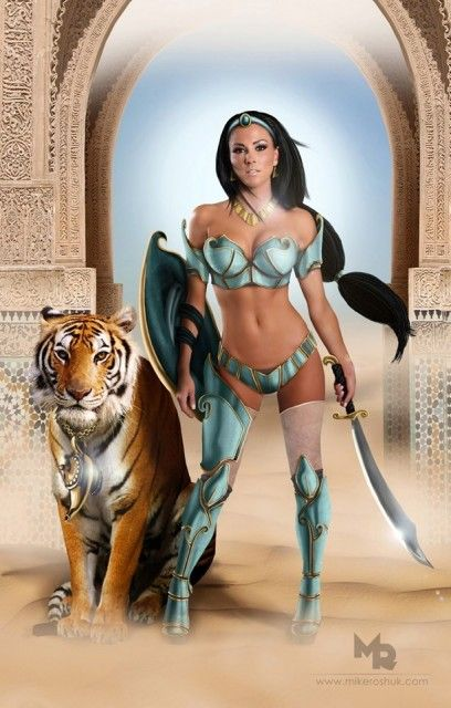 39 Stunning Costumed Cosplay Girls - Princess Jasmine. Um yeah...pretty much the hottest Princess Jasmine I've ever seen. JEEZ!