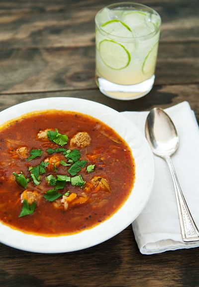 Mexican Meatball Albondigas soup | Food- Soups & Stews | Pinterest