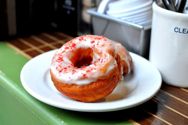 Grapefruit and Elderflower donut. Not Dunkin Donuts.
