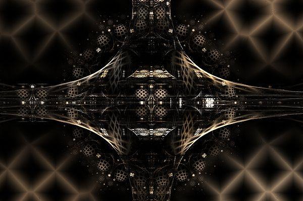 Fractal Digital Art - Hi-tech by Elena Ivanova IvEA    #ElenaIvanovaIvEAFineArtDesign #Print #Decor #Interior #Fractal #Abstraction