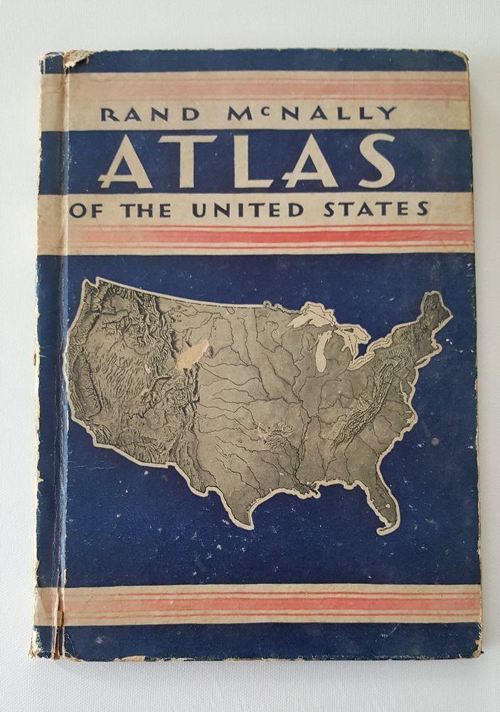 Rand McNally Atlas United States 1935 Vintage Photos USA President FDR Roosevelt #RandMcNally