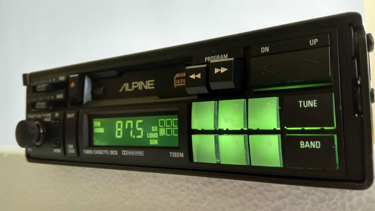 Alpine 7380M Old School AM/FM Cassette Tape Pullout Car Stereo Radio Japan Made #Alpine