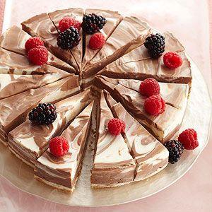 No-Bake Chocolate-Swirl Cheesecake