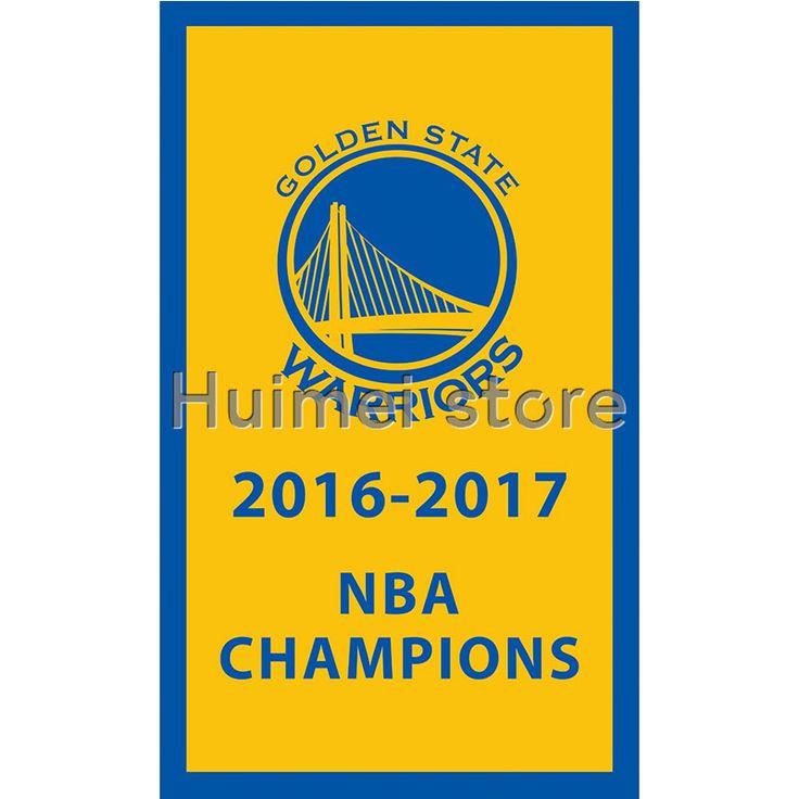 Golden State Warriors spot flag 100D Polyester Flag metal Grommets 90x150cm Outdoor flag 3x5ft
