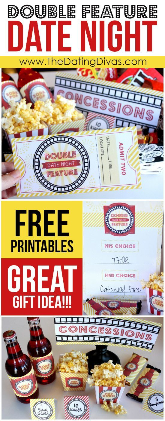 CUTE free downloads for a movie night date night (or family night.)  This is totally happening!