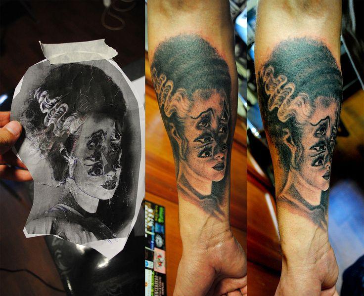 Elizabeth Labenza Frankestein girlfriend tattoo