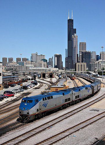 Amtrak to Chicago - done this countless times on the way to visit family in OH ~ This is the only way to travel!
