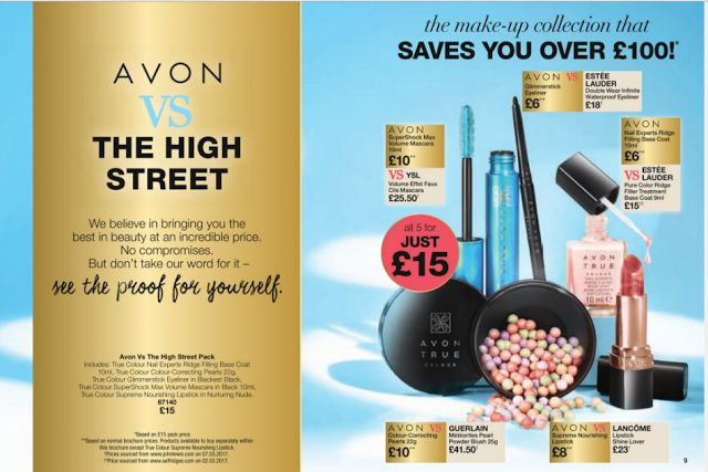Look how Avon matches up to the high street!  Shop here to get all 5 items for just £15 saving you over £100!