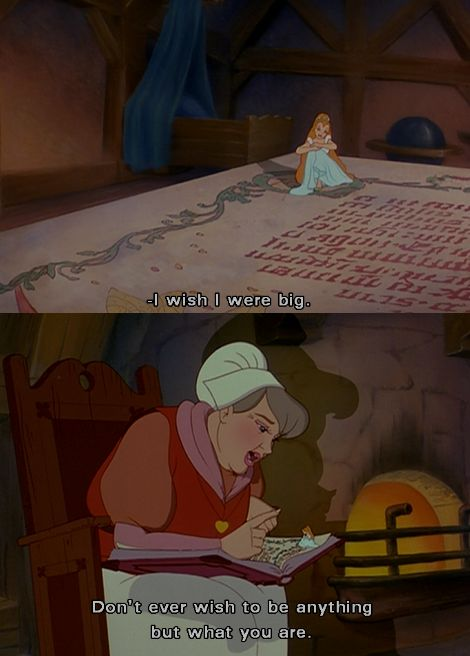Love this quote from Thumbelina <3