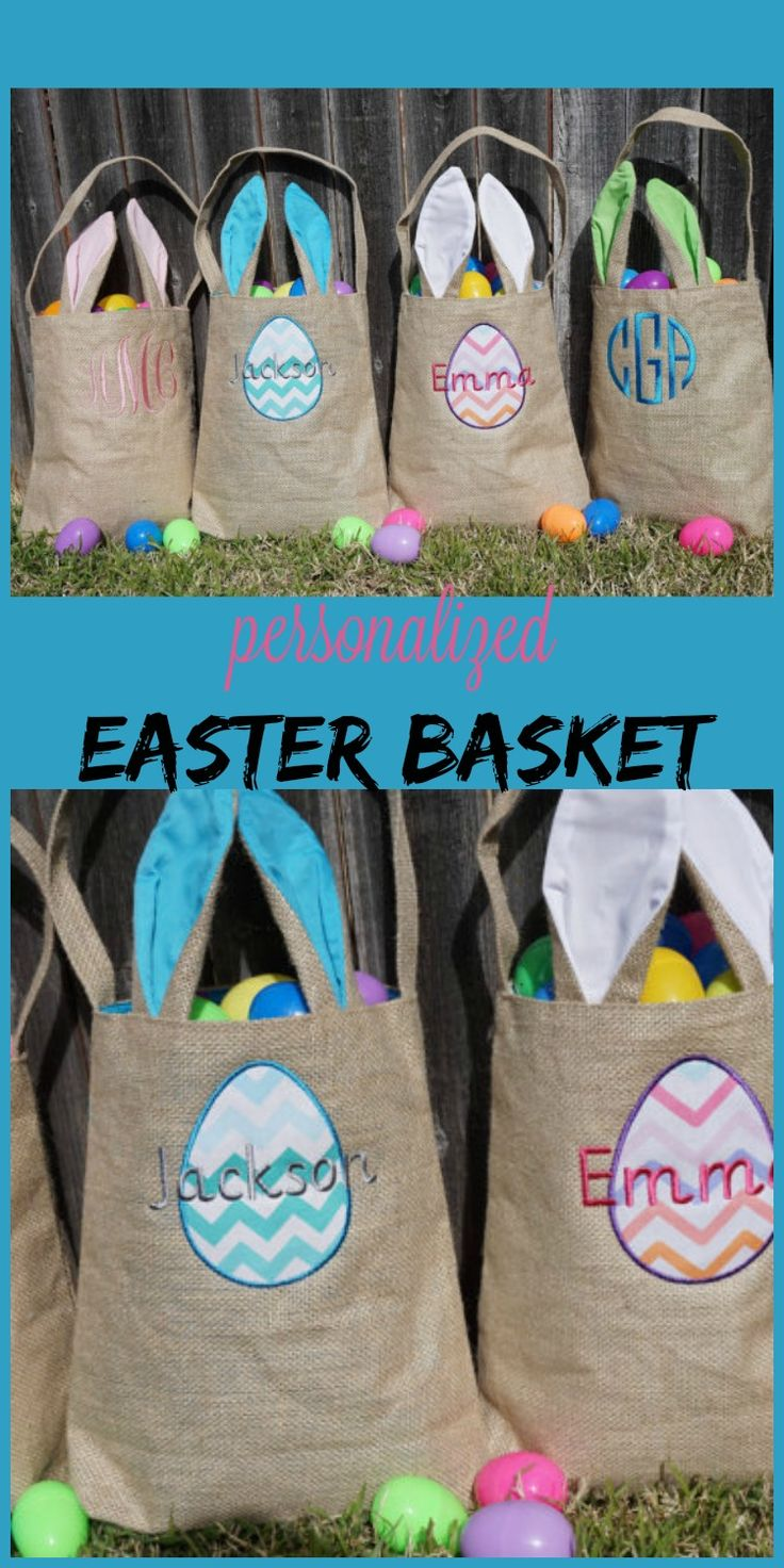 Love the personalized monogrammed easter baskets.  #monogram #easter #egg #personalized #etsy #ad