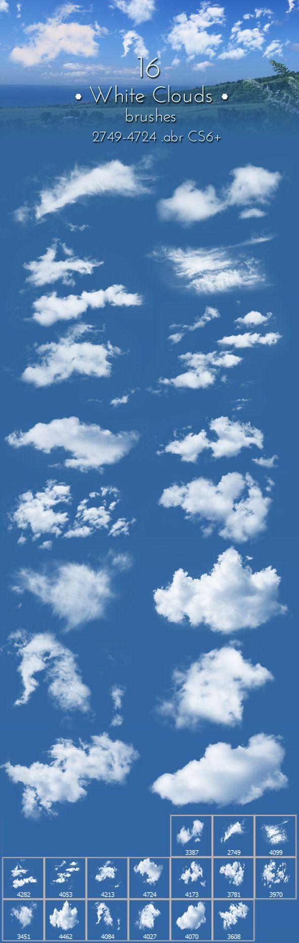 White Clouds Brushes - Brushes Photoshop