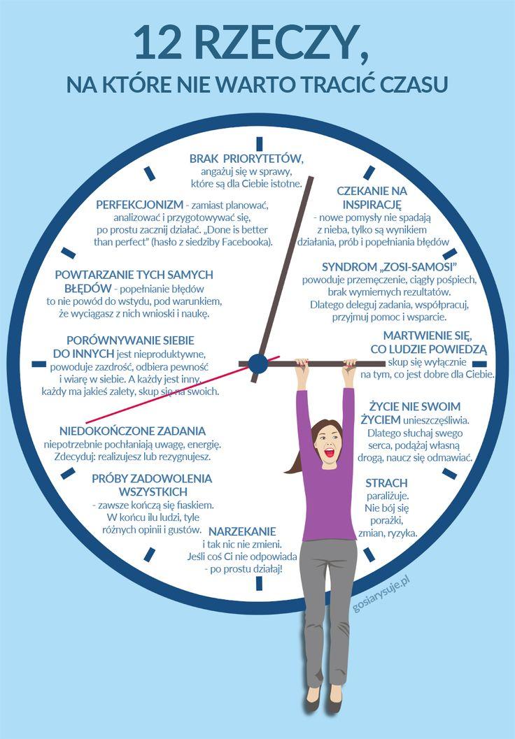 12 rzeczy, na które nie warto tracić czasu – INFOGRAFIKA