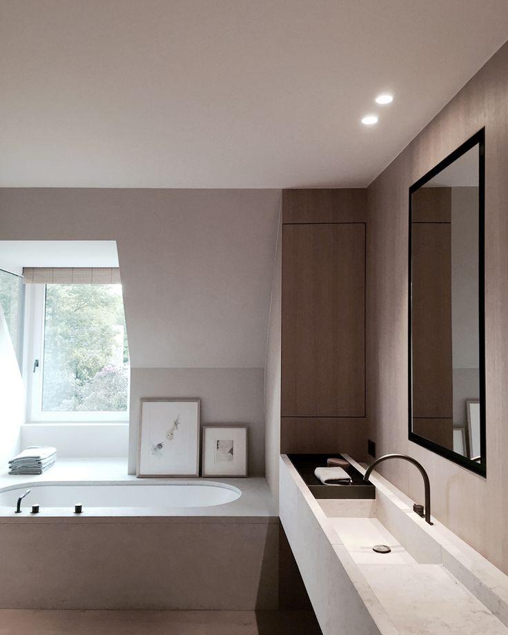 "Modern bathroom inspiration bycocoon.com | sturdy stainless steel bathroom taps | bathroom cabinets | Have a look at our ""Custom50"" or ""FLOAT"" washbasins | bathroom design & renovation | Dutch Designer Brand COCOON"