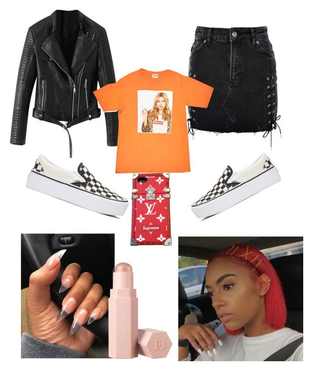 """Motor Sport Put That Thing In Sport"" by rockgold on Polyvore featuring Vans, Topshop, Supreme, Louis Vuitton and Puma"