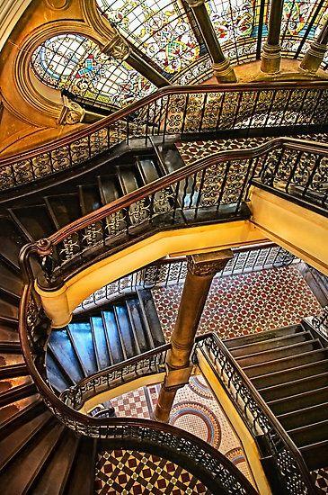 Staircase at Queen Victoria Building, Sydney, Australia