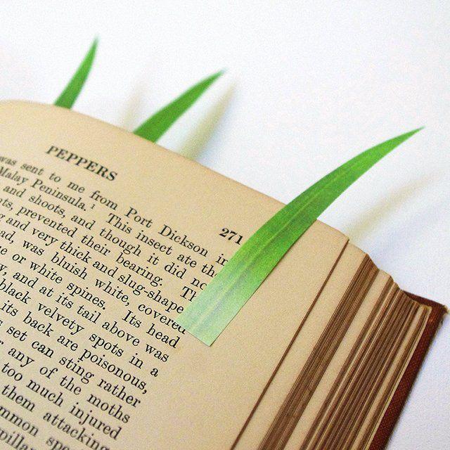 Grassy Page Markers by yuruliku