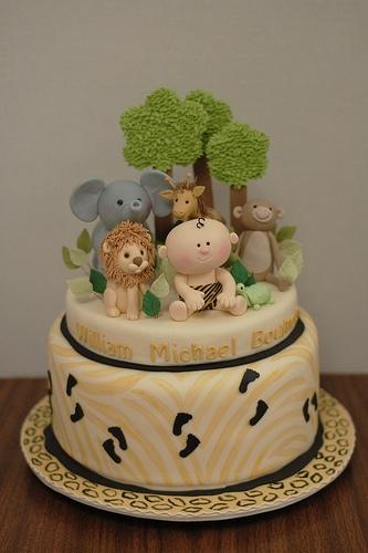 Baby Jungle Baby Shower Cake