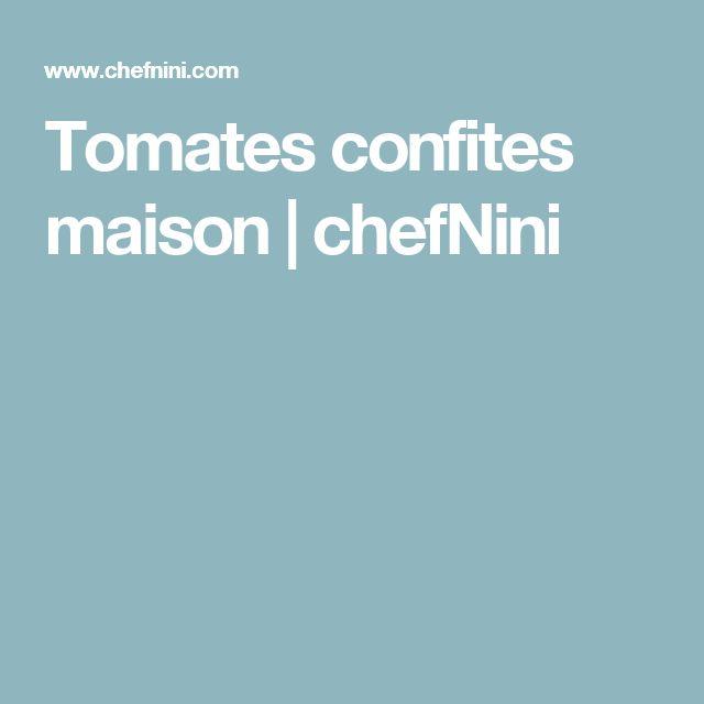 Tomates confites maison | chefNini