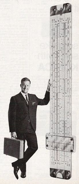 Have Slide Rule, Will Travel, from a 1960s ad promoting careers in science