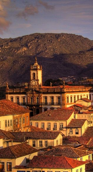 The golden light of Ouro Preto, Minas Gerais, Brasil. Founded at the end of the 17th century, Ouro Preto (Black Gold) was the focal point of the gold rush and Brazil's golden age in the 18th century.