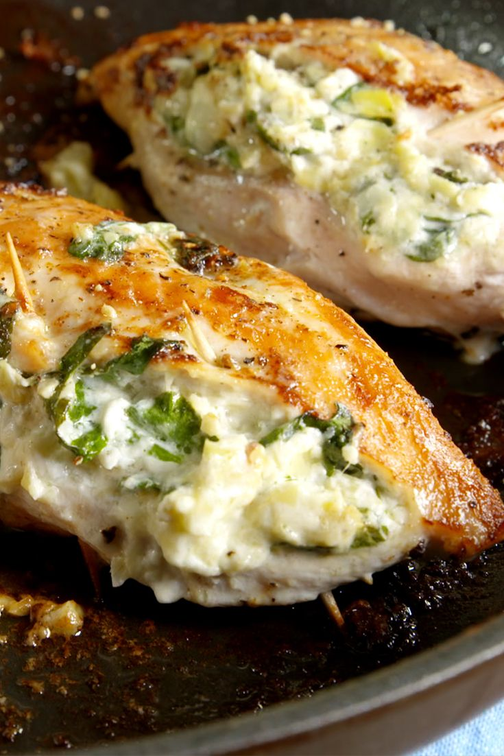 Spinach Artichoke Stuffed Chicken Recipe Stuffed Chicken Recipes Chicken Breasts And Cheese