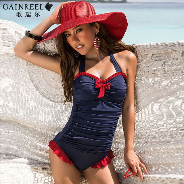 Free Shipping Ladies 2014 Blue Sexy one piece Swimwear Triangle Women's swimwear US $70.20 To Buy Or See Another Product Click On This Link  http://goo.gl/yekAoR