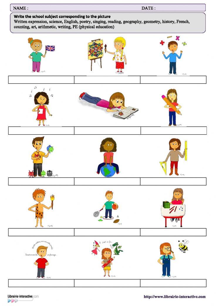 Le vocabulaire des matières en anglais. #apprendreanglais,apprendreanglaisenfant,anglaisfacile ...