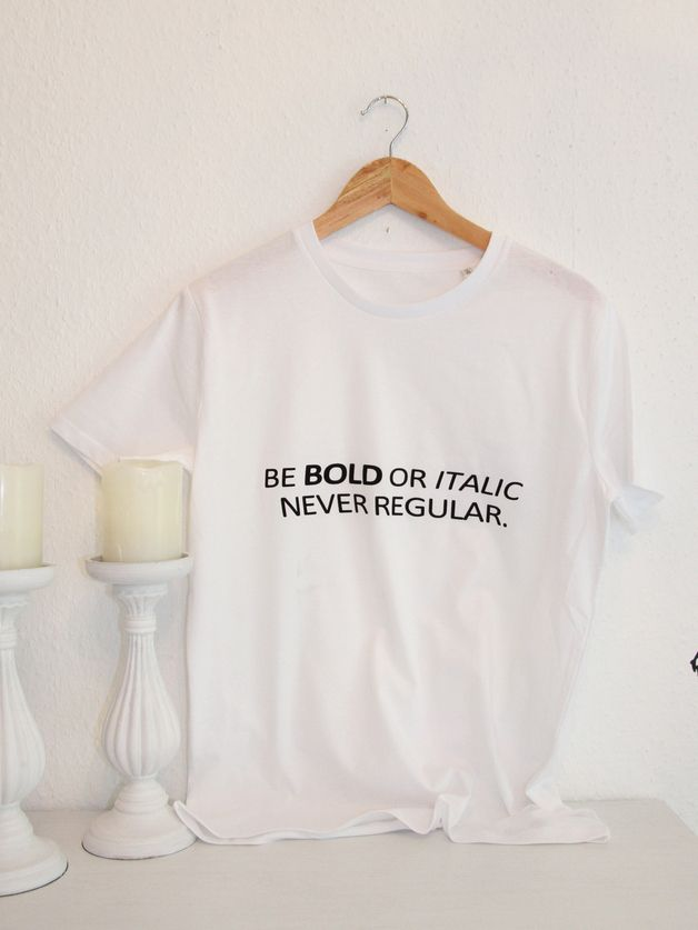 T-Shirt aus Bio-Baumwolle und Druck // shirt with print, bio cotton via DaWanda.com