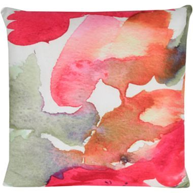 Watercolor Abstract Decorative Pillow   Jcpenney