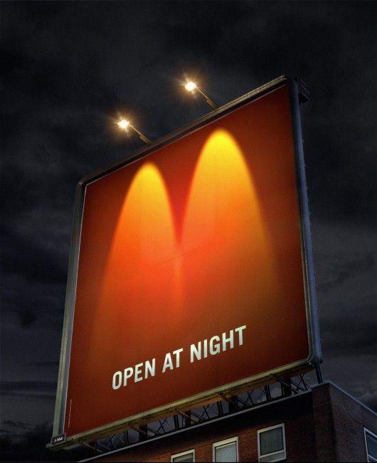 Open at night, advertentie van McDonalds