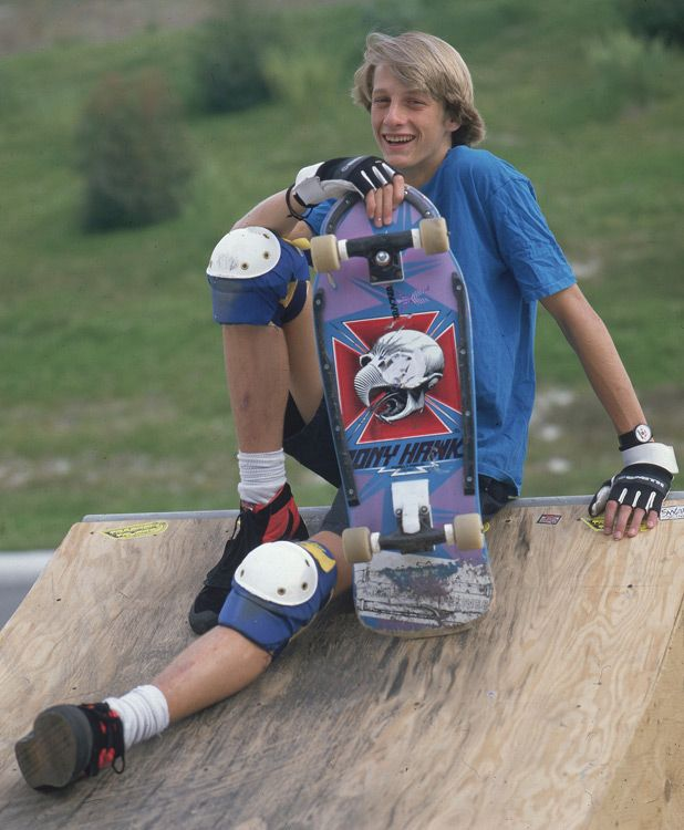 Legendary skateboarded Tony Hawk, 18, poses during a 1986 SI photo shoot. (Richard Mackson/SI)  SI VAULT: Tony Hawk leading a revival in skateboarding (11.24.86)