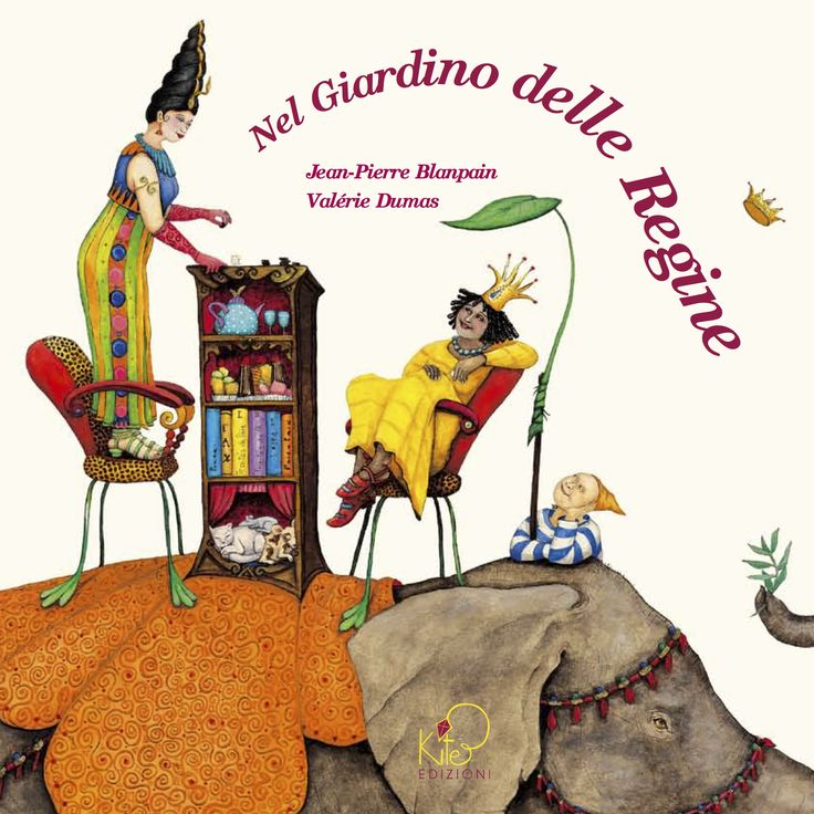 "Valérie Dumas cover illustration for the book, ""Nel Giardino delle Regine""."