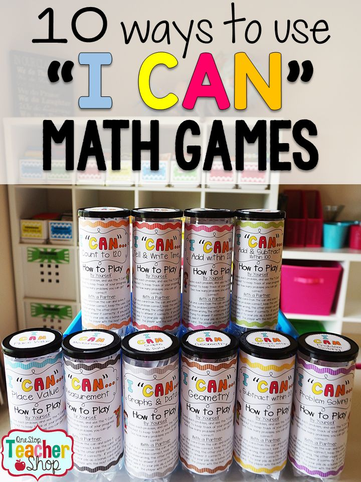 I Can Math and Grammar Games are more than just a can! Learn how I put together, organize and use these math and grammar games for all grades!  Math abd Literacy centers are now fun and engaging with these math games. Tons of ways to use these! (#3 is a lifesaver!)